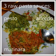 Raw vegan pasta! Not much faster for sauce then throwing it all in a blender. :)