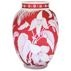 Rare and Fine, Unsigned Thomas Webb & Sons Cameo Glass Vase | From a unique collection of antique and modern vases at http://www.1stdibs.com/furniture/dining-entertaining/vases/