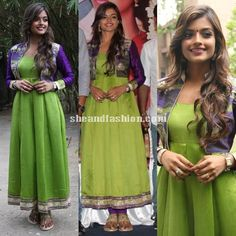Ashna Zaveri in coat style anarkali salwar for Inimey Ippadithaan Press Meet Photos