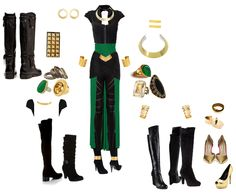 Loki inspired outfit, but its more like a costume :) I would wear this. To freaking Comic Con. Maybe just to school to freak everyone out.