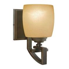 Hampton Bay 1-Light Bronze Wall Sconce-25105 at The Home Depot