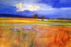 by derrick van rensburg Nature Paintings, Landscape Paintings, Oil Paintings, African Colors, South African Artists, Fantastic Art, Nature Photos, Beautiful Landscapes, Art Pictures