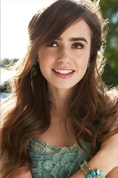 Lily Collins. I have to say.. this may be the prettiest picture of her. Or just the prettiest picture in general. Ever. Beautiful.
