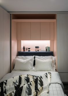 """NYC micro apartment is transformed from drab attic into high-functioning home - Curbed NYclockmenumore-arrownoyes : The """"Attic Transformer"""" is a stylish, small space Home Design, Modern Interior Design, Micro Apartment, Tiny Spaces, Small Apartments, Small Bedroom Designs, Small Bedrooms, Compact Living, Room Planning"""