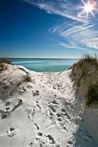Our favorite beach in the US, Destin FL.  Call it Redneck Riviera if you wish.  There still is no prettier sugary white sand anywhere else in the US.