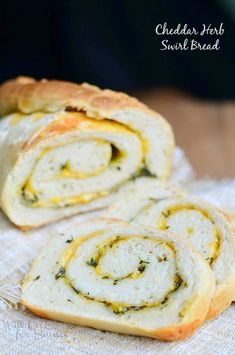 Cheddar Herb Swirl Bread   from willcookforsmiles.com #savorybread #homemadebread