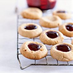 Healthy Peanut Butter and Jelly Thumbprints Cookies Recipe | CookingLight.com