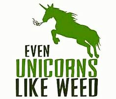 Unicorns know what's what! Marijuana is powerful in edibles you make easily yourself. This book has great recipes for easy marijuana oil, delicious Cannabis Chocolates, and tasty Dragon Teeth Mints: MARIJUANA - Guide to Buying, Growing, Harvesting, and Making Medical Marijuana Oil and Delicious Candies to Treat Pain and Ailments by Mary Bendis, Second Edition. Only 2.99.    www.muzzymemo.com