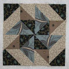 Civil War Quilts - Block 1    Blocks made to follow along with Barbara Brackman's Civil War Quilt's quilt-along