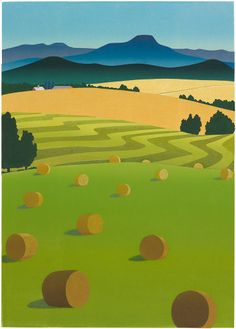 """Haying Near Camel's Hump II"" - Sabra Field, Printmaker"