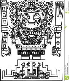 survival integrity | Vector os símbolos tribais eps 8 maias e do inca.