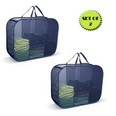 POP-UP LAUNDRY SORTER HAMPER 3 COMPARTMENT BLUE (SET OF 2) by Pop-Up. $18.99. This laundry bag is large enough to easily hold a week's worth of laundry. The vertical design fits easily in a corner without taking up a lot of floor space. It saves time when doing the laundry because the cloths are already sorted. Also, it is easy to carry through narrow hallways and stairways and is large enough to hold folded clothing after it is cleaned. Great for dorms, apartments, laundry ...