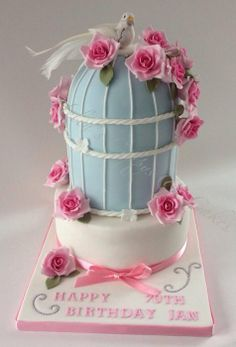 Birdcage Rose Cake - by Helen Allsopp @ CakesDecor.com - cake decorating website