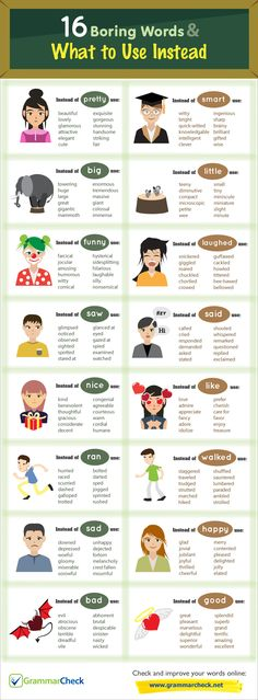 16 Boring Words & What to Use Instead (Infographic) writersrelief.com