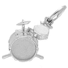 Drums Charm $32.50 https://www.charmnjewelry.com/sterling-silver-charms.htm #MusicCharm