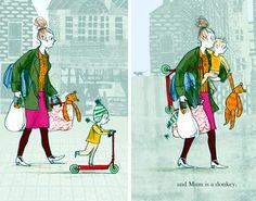 "Sara Ogilvie illustration for the book ""Meet the parents"""
