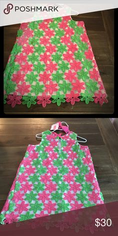 🎉Mud pie girls size 5T NWT Mudpie green and pink dress size 5 Brand New price is firm Mud Pie Dresses