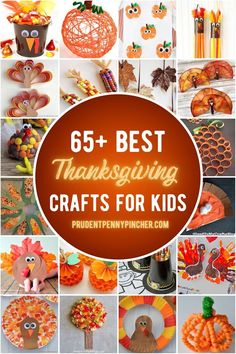Get crafty this fall with these fun and easy Thanksgiving crafts for kids of all ages. From Thanksgiving crafts for toddlers to Thanksgiving crafts for preschoolers, there are plenty of DIY Thanksgiving craft ideas for children to choose from. Diy Thanksgiving Centerpieces, Thanksgiving Crafts For Toddlers, Fall Crafts For Kids, Thanksgiving Activities, Toddler Crafts, Holiday Crafts, Thanksgiving Ideas, Kids Crafts, Thanksgiving Desserts