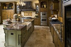 Morrison Supply - Fort Worth - traditional - kitchen - dallas - by Dallas Design Group, Interiors Kitchen Room Design, Dining Room Design, Kitchen Layout, Old World Kitchens, Tuscan Kitchens, Dream Kitchens, Kitchen On A Budget, Kitchen Ideas, Kitchen Stuff