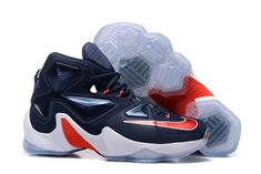 $200 NIKE Mens 10 Lebron XIII 13 USA Basketball Shoes Navy Blue Red 807219-461