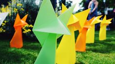 Coco Sato for Giant Origami. Public/event installation specialist. http://cocosato.co.uk http://giantorigami.com #origami #giantorigami #garden #deco #pretty #japanese