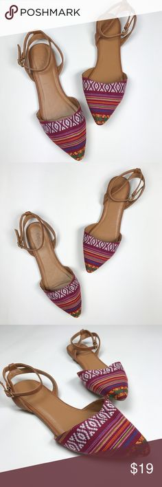 NWOT Tribal Print Pointed Flats NWOT Tribal Print Pointed Flats from Charlotte Russe. Brand New! Ankle strap. Charlotte Russe Shoes Flats & Loafers