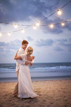 beach wedding/reception