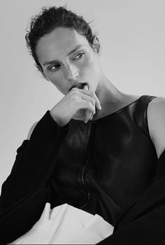 Vivien Solari for Rika - Paule Ka leather top