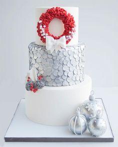 Christmas cake by @miraquetarta