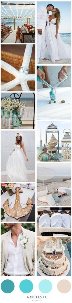 Not the dress, but YES, beach wedding! --- Beach Wedding // Mood Board Beach Wedding Party // Organiser son mariage à la plage Nautical Wedding, Trendy Wedding, Summer Wedding, Dream Wedding, Wedding Beach, Wedding Ceremony, Romantic Beach Weddings, Beach Party, Beach Ceremony