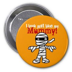 Funny Cute Mummy - Happy Halloween Pins