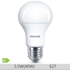 Bec LED Philips 5.5W E27 forma clasica A60, lumina calda Fluorescent Lamp, Energy Saver, Types Of Lighting, Bulbs, Light Bulb, Bedroom Inspiration, Lamps, Wall, Diy