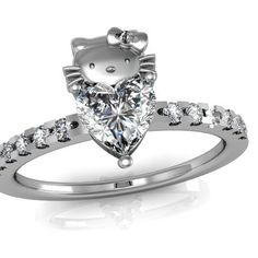hello kitty engagement ring because nothing says i am ready to enter into a mature - Hello Kitty Wedding Ring