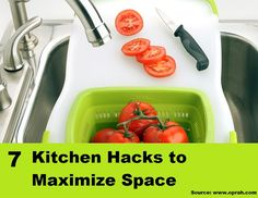7 Kitchen Hacks to Maximize Space...For more creative tips and ideas FOLLOW https://www.facebook.com/homeandlifetips