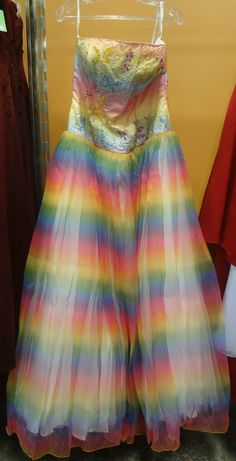 Prom dress possibility. Another Goodwill treasure!!! http ...