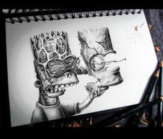 Insane Bart Simpson drawing