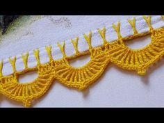 Crochet Edging Patterns, Crochet Lace Edging, Crochet Borders, Filet Crochet, Crochet Stitches, Bunny Crochet, Crochet Baby, Bracelet Crochet, Crochet Earrings