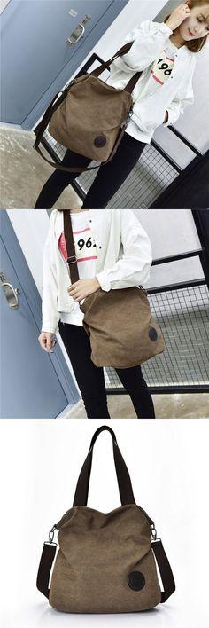 Bagail Women Casual Canvas Large Capacity Handbag Outdoor Shoulder Bags