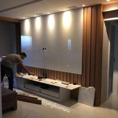 The Best 2019 Interior Design Trends - DIY Decoration Ideas Lcd Unit Design, Lcd Panel Design, Tv Unit Decor, Tv Wall Decor, Tv Cabinet Design, Tv Wall Design, Tv Unit Furniture, Furniture Design, Furniture Plans