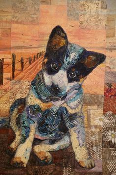 I don't have time to add the entire amount of images I have in this category, so little time. Dog Quilts, Cat Quilt, Animal Quilts, Quilt Art, Amish Quilts, Quilt Festival, Illustration Photo, Landscape Art Quilts, Easy Quilts