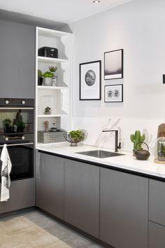 Open Plan Kitchen Living Room, Kitchen Room Design, Kitchen Corner, Kitchen Cabinet Design, Modern Kitchen Design, Home Decor Kitchen, Interior Design Kitchen, New Kitchen, Home Kitchens