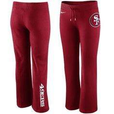 Nike San Francisco 49ers Women's Tailgater Fleece Pants - Scarlet -