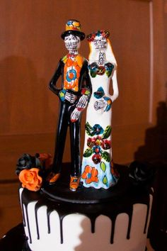 halloween wedding cake topper large day of the dead and groom cake topper dead 15061