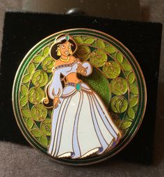 Disney+Pin+#20374+Jasmine+From+Aladdin+Stained+Glass+Series+New+