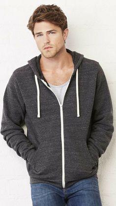 a253dae2fbb Unisex Lightweight Triblend Full-Zip Fleece Hoodie Sweatshirt Hoodie  Sweatshirts