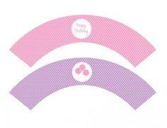 free girl birthday printable Cupcake Wrappers