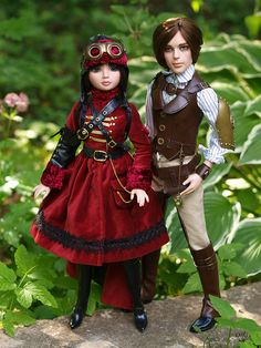 Ellowyne in Air Ship Escape outfit and Phineas Jules Bennett