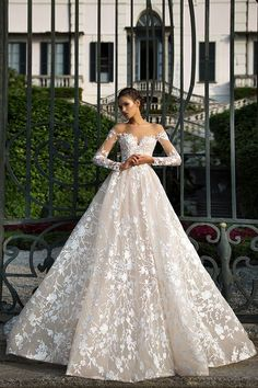 Adala Wedding dresses Milla Nova 2016 available at Viero Bridal in Chicago and Philadelphia | lace wedding dresses | wedding dresses mesh | wedding dresses mermaid | wedding dresses without sleeves | wedding A line | Bridal dresses