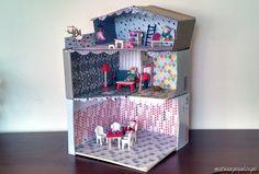 matka w pigułce: #DIY Domek dla lalek z kartonu