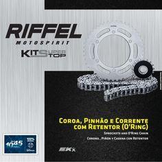 Kit Relação Riffel Suzuki GSXR750 SRAD 2006 até 2010, Coroa 45z, Pinhão 17z e Corrente 525 x 120 Elos - Masada Moto